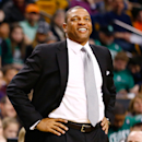 FILE - JUNE 24, 2013: It was reported that Los Angeles Clippers have agreed in principle to a deal with the Boston Celtics to sign coach Doc Rivers to a said three-year, $21 million contract and will send a 2015 first-round pick as compensation to the Celtics June 24, 2013. BOSTON, MA - FEBRUARY 10: Head coach Doc Rivers of the Boston Celtics smiles as he watches his team play against the Denver Nuggets during the game on February 10, 2013 at TD Garden in Boston, Massachusetts. (Photo by Jared Wickerham/Getty Images)
