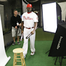 Philadelphia Phillies first baseman Ryan Howard walks to another station during the team's photo day before a spring training baseball practice Wednesday, Feb. 19, 2014, in Clearwater, Fla The Associated Press