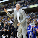 INDIANAPOLIS, IN - APRIL 17:  Doug Collins the head coach of the Philadelphia 76ers gives instructions to his team during the game against the Indiana Pacers at Bankers Life Fieldhouse on April 17, 2013 in Indianapolis, Indiana.(Photo by Andy Lyons/Getty Images)
