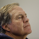 New England Patriots head coach Bill Belichick listens to a reporter's question during a media availability at the NFL football team's facility Wednesday Oct. 1, 2014 in Foxborough, Mass. The Patriots, 2-2, took a drubbing by the Kansas City Chiefs on Mo