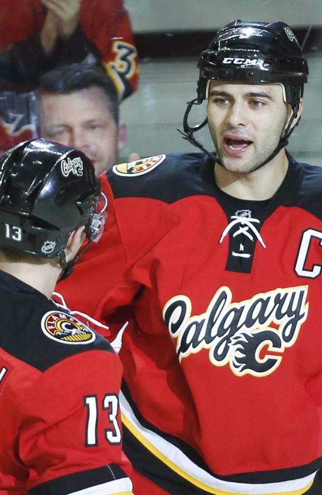 Flames rally past Rangers 4-3