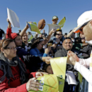 Green Bay Packers' Clay Matthews signs autographs after a practice session at Luke Air Force Base for the NFL Football Pro Bowl Thursday, Jan. 22, 2015, in Glendale, Ariz The Associated Press