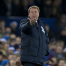 Queens Park Rangers' manager Harry Redknapp issues instructions during the English Premier League soccer match between Everton and Queens Park Rangers at Goodison Park Stadium, Liverpool, England, Monday Dec. 15, 2014