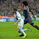 Bayern's Dante, right, plays foul against Manchester City's James Milner, left, during the Champions League group D soccer match between FC Bayern Munich and Manchester City, in Munich, southern Germany, Tuesday, Dec. 10, 2013