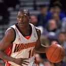 19 Dec 2001: Point guard Mookie Blaylock #10 of the Golden State Warriors dribbles the ball during the NBA game against the Detroit Pistons at the Arena in Oakland in Oakland, California. The Warriors defeated the Pistons 101-88