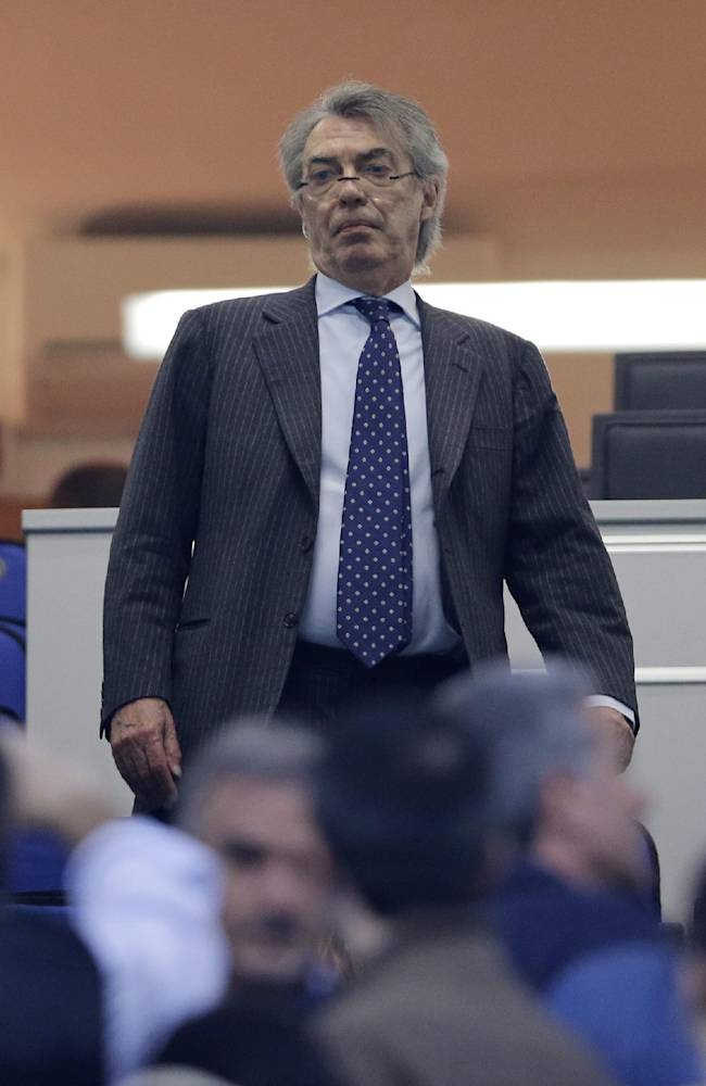 In this photo taken on April 17 2013, Inter Milan president Massimo Moratti arrives at the San Siro stadium in Milan. Indonesian executive Erick Thohir has signed a deal to take over a majority stake of the elite Italian club Inter Milan, becoming the second foreign owner in Serie A. Inter president Massimo Moratti announced Tuesday that