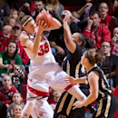 Nebraska's Jordan Hooper (35) fights for a defensive rebound against Purdue's Taylor Manuel (50) and Hayden Hamby (10) during the first half of anNCAA college basketball game at the Bob Devaney Sports Center in Lincoln, Neb.., Saturday, Jan. 5, 2013. (AP Photo/The World-Herald, Mark Davis)