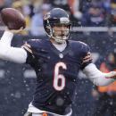 Chicago Bears quarterback Jay Cutler (6) throws a pass against the Minnesota Vikings during the first half of an NFL football game Sunday, Nov. 16, 2014 in Chicago The Associated Press