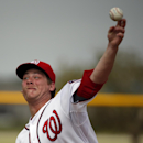 Washington Nationals starting pitcher Ross Detwiler pitches during a spring training baseball workout, Sunday, Feb. 23, 2014, in Kissimmiee, Fla The Associated Press