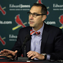 St. Louis Cardinals general manager John Mozeliak speaks during a news conference about the signing of free agent shortstop Jhonny Peralta Monday, Nov. 25, 2013, in St. Louis. The baseball team has announced they have signed Peralta to a four-year contra