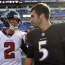 Ravens reach 1st place by dismissing Falcons The Associated Press