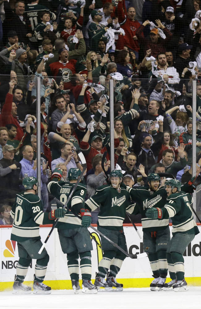 Wild even series at 2 with 2-1 win vs. Avalanche
