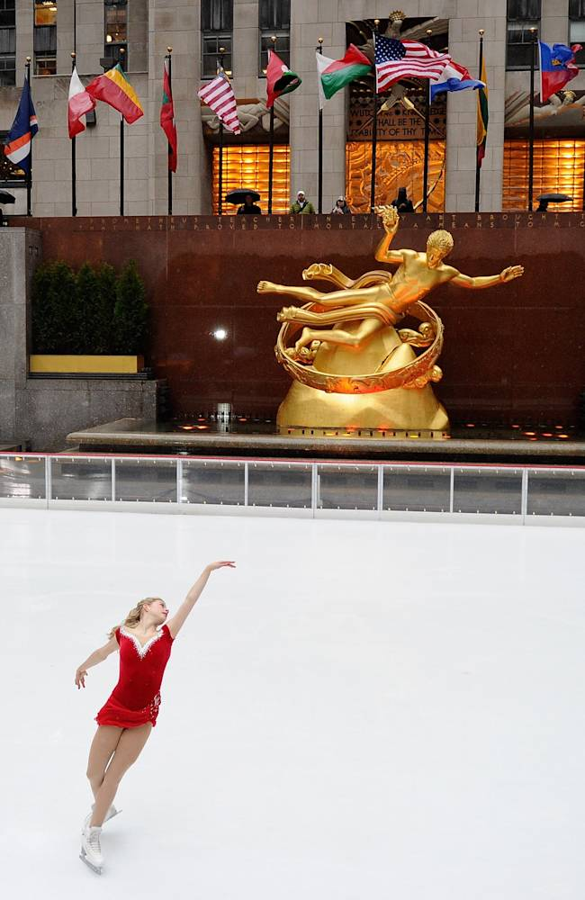 Olympian Gracie Gold Performs at Rockefeller Center