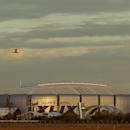 The Super Bowl XLIX logo is displayed on the University of Phoenix Stadium Tuesday, Jan. 27, 2015, in Glendale, Ariz. The New England Patriots face the Seattle Seahawks in Super Bowl XLIX on Sunday, Feb. 1, 2015, in Glendale, Ariz The Associated Press