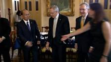 Myanmar President Thein Sein meets with U.S. lawmakers