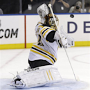 Bruins goalie Tuukka Rask moves on after miscue in Game 4 photo