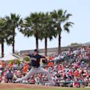 SARASOTA, FL - MARCH 11: Allen Webster #64 of the Boston Red Sox pitches in the second inning of the game against the Baltimore Orioles at Ed Smith Stadium on March 11, 2014 in Sarasota, Florida. The Red Sox defeated the Oriols 6-5. (Photo by Leon Halip/Getty Images)