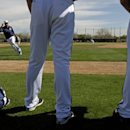 Milwaukee Brewers' Aramis Ramirez runs a drill during a spring training baseball workout Thursday, Feb. 26, 2015, in Phoenix. (AP Photo/Morry Gash)