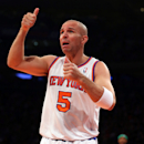 FILE - JUNE 3, 2013: It was announced that Jason Kidd will retire from basketball after 19 seasons in the NBA June 3, 2013. NEW YORK, NY - MARCH 31: Jason Kidd #5 of the New York Knicks reacts after he is called for a foul in the first quarter against the Boston Celtics on March 31, 2013 at Madison Square Garden in New York City. (Photo by Elsa/Getty Images)