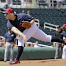 Cleveland Indians starting pitcher Justin Masterson follows through on a pitch against the Milwaukee Brewers in the fourth inning of a spring exhibition baseball game Wednesday, March 26, 2014, in Goodyear, Ariz The Associated Press