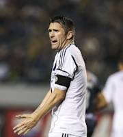 Los Angeles Galaxy forward Robbie Keane during the CONCACAF Champions League semifinal, Wednesday, April 3, 2013, in Carson, Calif. Monterrey won 2-1. (AP Photo/Bret Hartman)