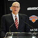 NEW YORK, NY - MARCH 18: Phil Jackson addresses the media during his introductory press conference as President of the New York Knicks at Madison Square Garden on March 18, 2014 in New York City. (Photo by Maddie Meyer/Getty Images)