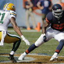 Chicago Bears running back Matt Forte (22) rushes past Green Bay Packers safety Ha Ha Clinton-Dix (21) in the first half of an NFL football game Sunday, Sept. 28, 2014, in Chicago. The Packers won 38-17. The Associated Press