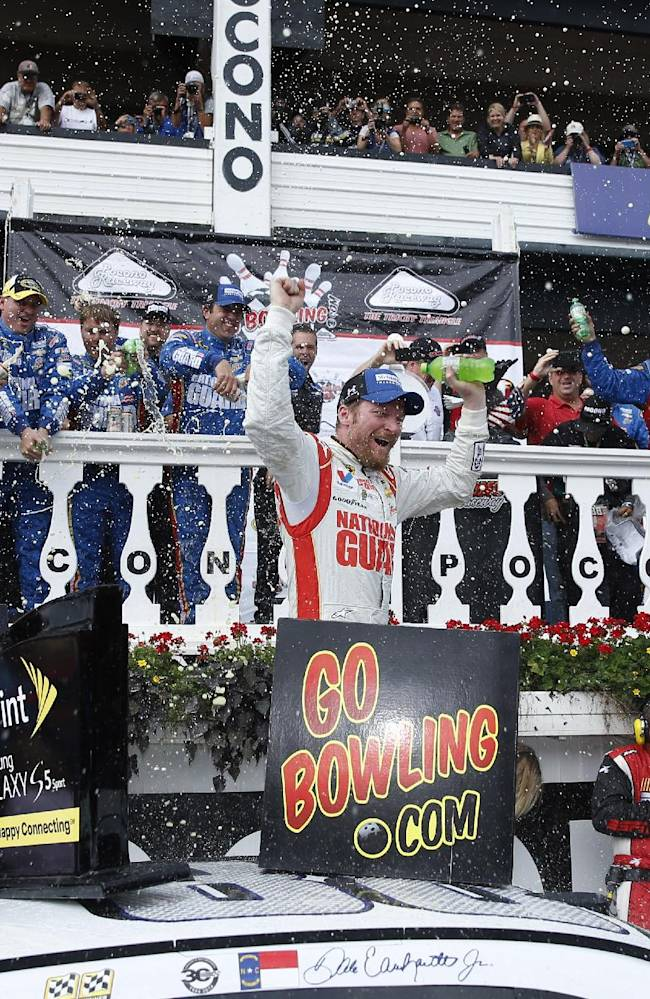 Earnhardt win completes season sweep at Pocono
