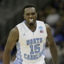 North Carolina guard P.J. Hairston (15) celebrates after making a shot during the second half of a second-round game against Villanova in the NCAA college basketball tournament Friday, March 22, 2013, in Kansas City, Mo. (AP Photo/Charlie Riedel)