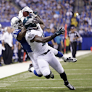 Indianapolis Colts Greg Toler makes an interception against Philadelphia Eagles wide receiver Jeremy Maclin (18) during the first half of an NFL football game Monday, Sept. 15, 2014, in Indianapolis The Associated Press