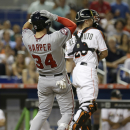 Harper homers twice into upper deck, Nats beat Marlins 7-2 The Associated Press