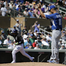 Colorado Rockies' Troy Tulowitzki celebrates a home run off Kansas City Royals starting pitcher Jeremy Guthrie during the second inning of a spring exhibition baseball game in Scottsdale, Ariz., Monday, March 24, 2014 The Associated Press