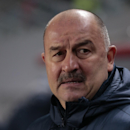 Dinamo Moscow team coach Stanislav Cherchesov looks at the field during the Europa League Group E soccer match between Dynamo Moscow and Panathinaikos at the Arena Khimki stadium in Moscow, Russia, Thursday, Nov. 27, 2014 The Associated Press