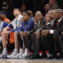 NEW YORK, NY - DECEMBER 08: A view of the New York Knicks bench just prior to the end of the game against the Boston Celtics at Madison Square Garden on December 8, 2013 in New York City. The Celtics defeated the Knicks 114-73. (Photo by Bruce Bennett/Getty Images)