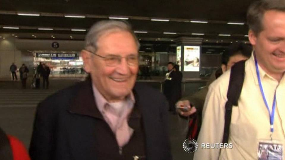 85 yr old war vet released from North Korea