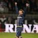 LYON, FRANCE - MAY 12: David Beckham of PSG celebrates the french Ligue 1 title of PSG after the Ligue 1 match between Olympique Lyonnais, OL, and Paris Saint-Germain FC, PSG, at the Stade Gerland on May 12, 2013 in Lyon, France. (Photo by John Berry/Getty Images)