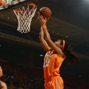 Tennessee's Isabelle Harrison lays in a basket against Auburn in the first half of their NCAA college basketball game on Thursday, Jan. 17, 2013, in Auburn, Ala. (AP Photo/Todd J. Van Emst)