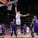 Blake Griffin #32 of the Los Angeles Clippers dunks against the Sacramento Kings at Staples Center on April 12, 2014 in Los Angeles, California. (Photo by Noah Graham/NBAE via Getty Images)