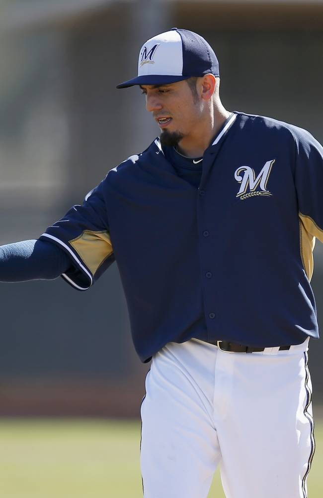 Garza finally finds home, settles in with Brewers