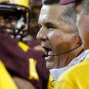 Arizona State head coach Todd Graham talks to his team during the first half of an NCAA college football game against Northern Arizona, Thursday, Aug. 30, 2012, in Tempe, Ariz. (AP Photo/Rick Scuteri)
