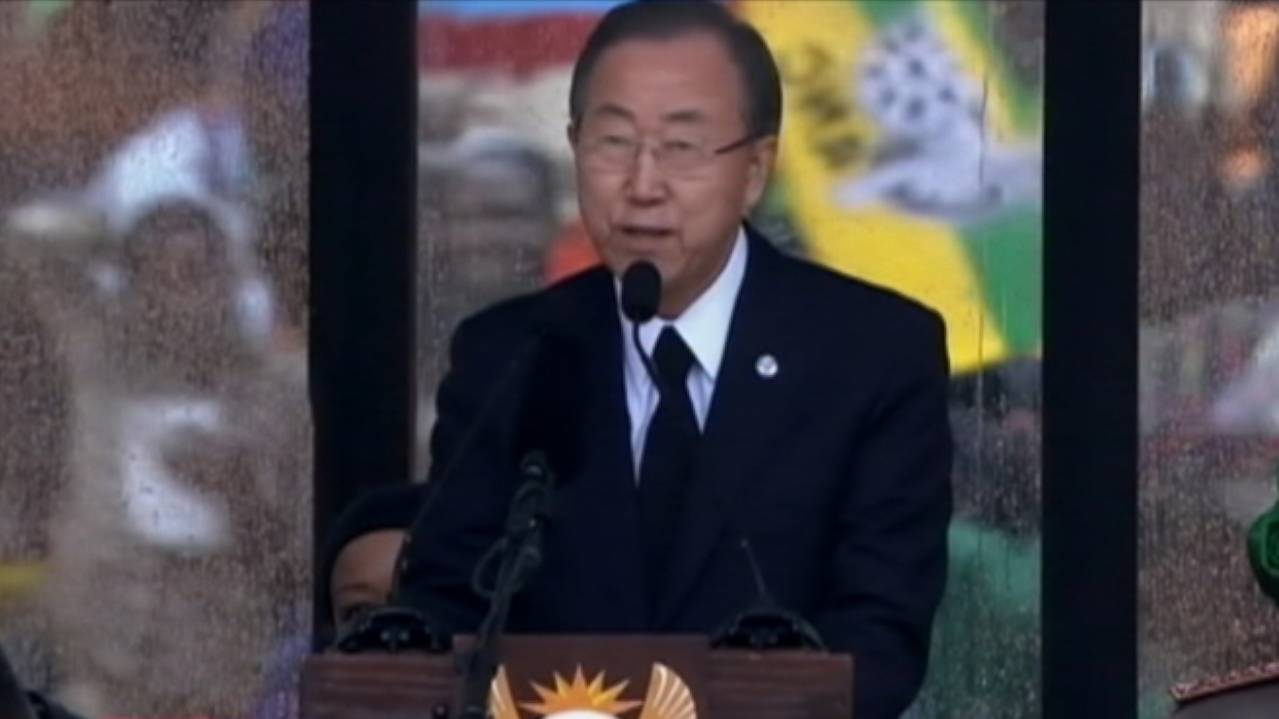 United Nations Secretary-General Pays Tribute to Nelson Mandela