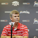 In this Sept. 29, 2013, file photo, Miami Marlins general manager Dan Jennings is shown during a news conference in Miami. Dan Jennings traded Dan Jennings. On the final day of the winter meetings, the Miami Marlins sent Jennings, a 27-year-old left-hande