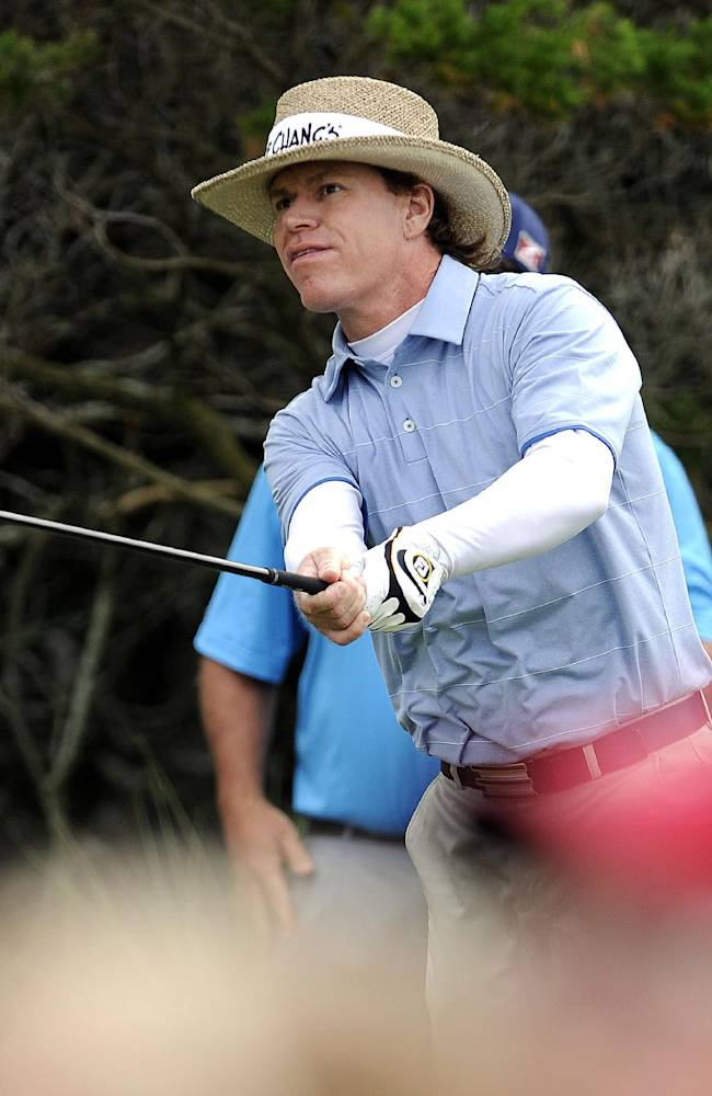Briny Baird watches his ball after hitting from the second tee during the final round of the McGladrey Classic golf tournament on Sunday, Nov. 10, 2013, in St. Simons Island, Ga