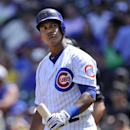 Chicago Cubs' Starlin Castro reacts to a called strike during the first inning of a baseball game against the Cincinnati Reds in Chicago, Sunday, April 20, 2014. Cincinnati won 8-2 The Associated Press