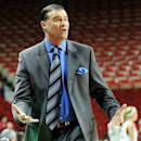 Kentucky head coach Matthew Mitchell reacts to a call during the first half of their NCAA college basketball game against Arkansas, Thursday, Feb. 7, 2013, in Fayetteville, Ark. (AP Photo/The Northwest Arkansas Times, Michael Woods)