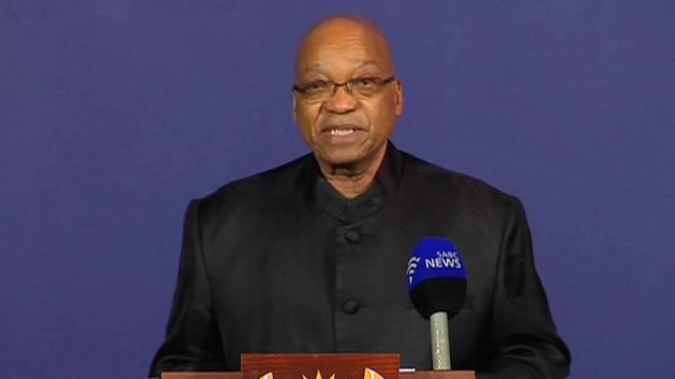 South African President Zuma says that Nelson Mandela has died
