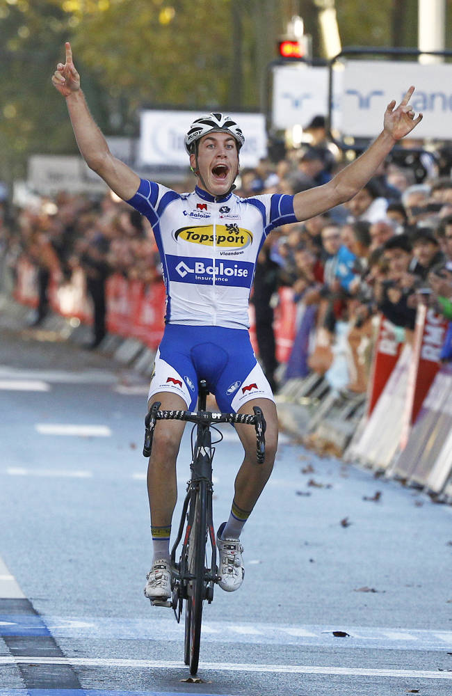Belgium's Jelle Wallays wins Paris-Tours classic