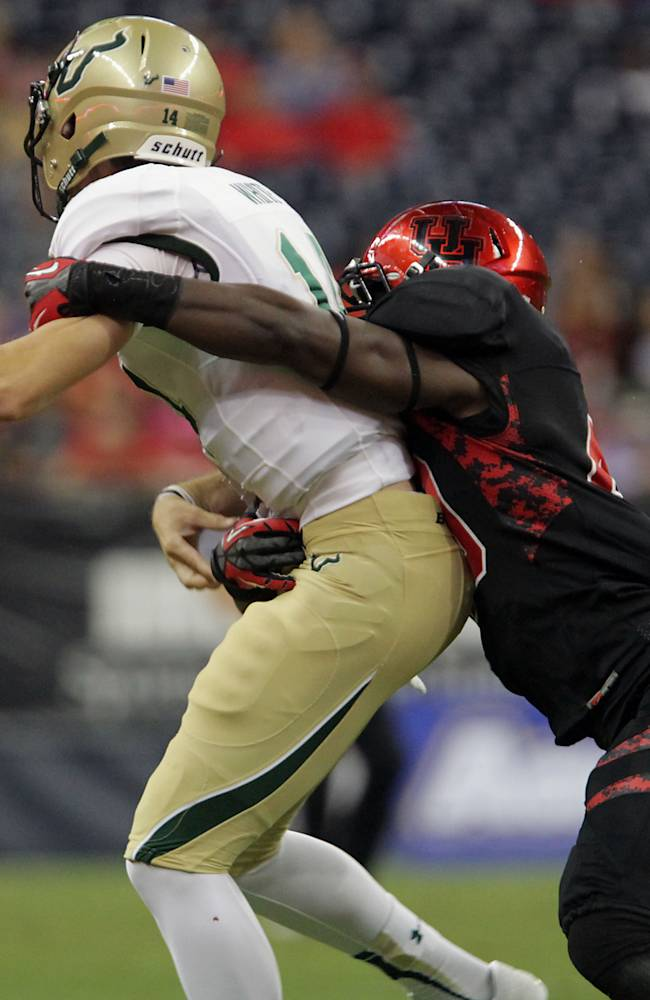 O'Korn leads Houston past South Florida, 35-23