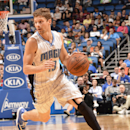 ORLANDO, FL - MARCH 1: Luke Ridnour #13 of the Orlando Magic handles the ball against the Charlotte Hornets on March 1, 2015 at Amway Center in Orlando, Florida. (Photo by Fernando Medina/NBAE via Getty Images)