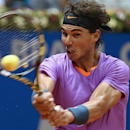 Spain's Rafael Nadal returns the ball to Argentina's Carlos Berlocq at the Brazil Open ATP tournament tennis match in Sao Paulo, Brazil, Friday, Feb. 15, 2013. (AP Photo/Andre Penner)